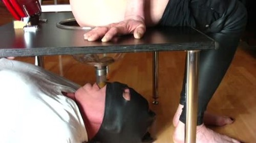 Mistress shits a lot into a funnel - Femdom Scat, Humiliation Scat, Copro Video