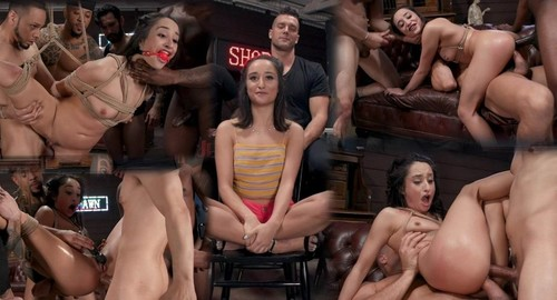 Gang Bang Pawn Shop Isabella Nice Pays Off Debt With All Her Holes [SD]