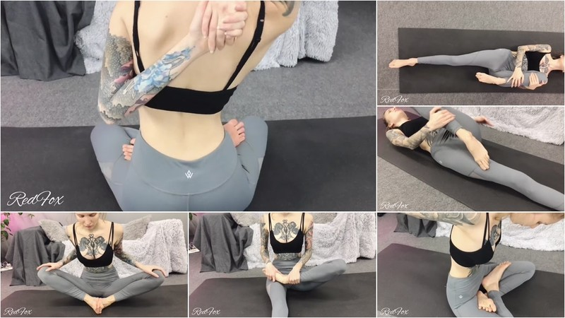 RedFox XXX - Tattooed Russian Babe Practices Sexy Yoga Poses Redfox Red Fox [FullHD 1080P]