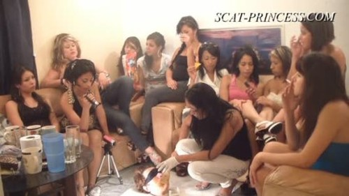 14 Girls and a Floor Level Toilet Slave - Part 2 Gabi - Femdom Scat, Humiliation Scat, Copro Video
