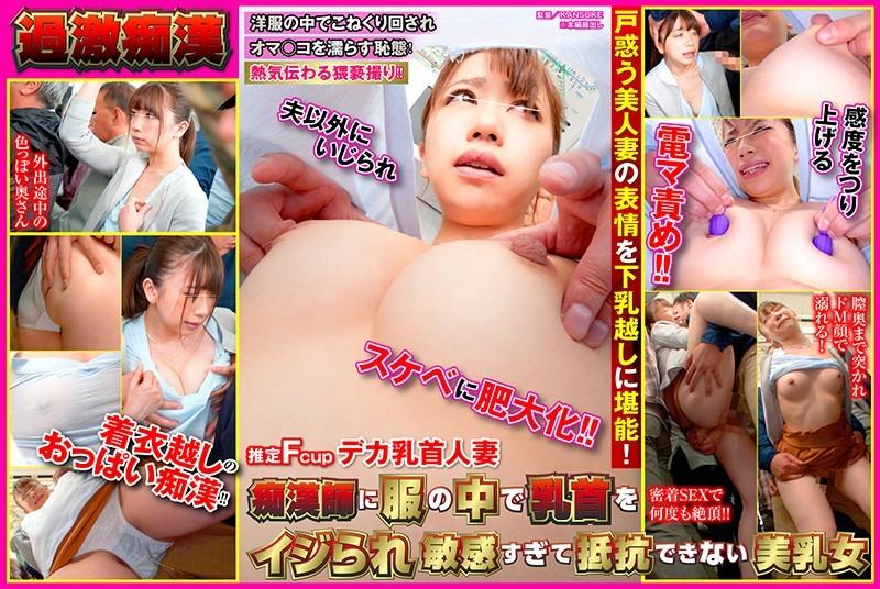 SHN-030 痴●師に服の中で乳首をイジられ敏感すぎて抵抗できない美乳女 推定Fcupデカ乳首人妻