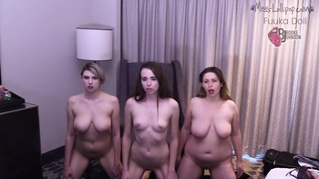 Three whores obey the master and get orgasm