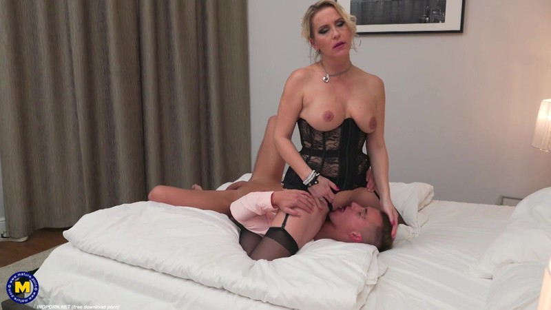 Horny fucking and sucking MILF Julia Pink loves eating her toy boys ass