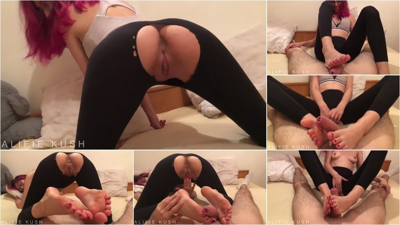 AlifieKush - Hot Footjob then Licking my Toe Full of Cum - Watch XXX Online [FullHD 1080P]