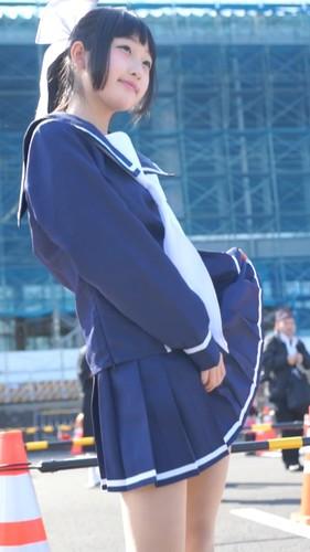 コミックマーケット コスプレ ★天使のような★超美形レイヤーさんの制服パンチラ 対面&スカートひらり コミケ 14分