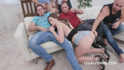 7On1 Dap Gangbang With Alessandra Amore Balls Deep Anal, Dap, Gapes And Swallow Gio1336 [HD]