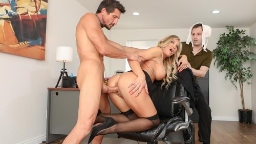Sissy Husband Watches As His Wife Gets Cock For Lunch [HD]
