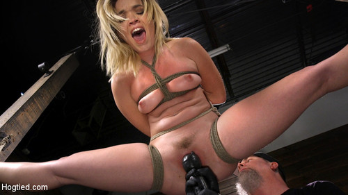 Katie Kush - Katie Kush Blonde, All Natural, Flexible Slut In Grueling Bondage (SD)