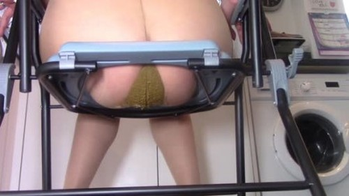 Toilet Slavery Eat From My Pantyhose - Solo Scat Fetish, Defecation, Shiting Girl, Dirty Ass