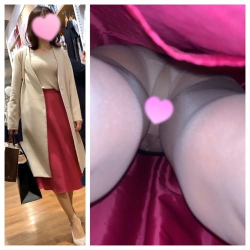 【人妻OL】スレンダー巨乳おっぱい美人お姉さんの純白パンツを盗撮!顔出しあり!神回