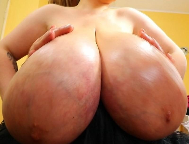 Alice 85JJ gets her Huge Tits Oiled Pt. 2