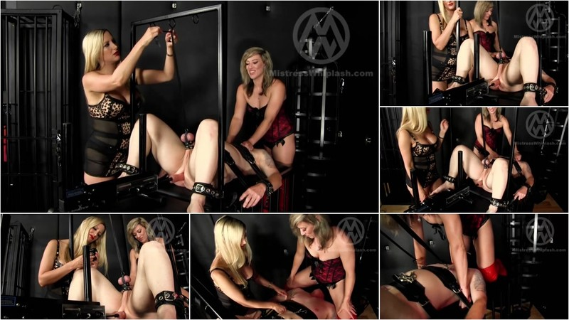 Wl1481 : 2 Dominas Use Fucking Machine On Their Slave [FullHD 1080P]