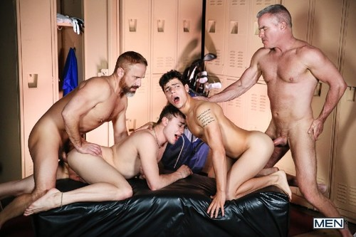 MEN - The Caddy, The Daddy Part 3: Kaleb Stryker, Dirk Caber, Zander Lane, Dale Savage Bareback