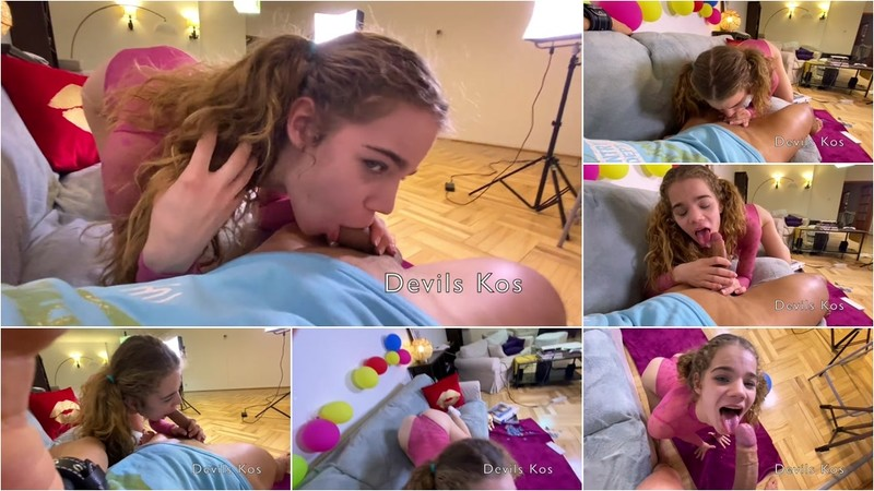 Devils Kos - Sabrina Spice is 18 Years Old. she got a Dick as a Present? [FullHD 1080P]