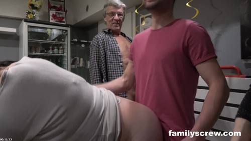 Cumming Together As A Family At A Swingers Club - Family Screw