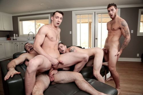 NextDoorBuddies - Ballin' Bros: Ryan Jordan, Johnny B II, Alex James, Carter Woods Bareback (Aug 2)