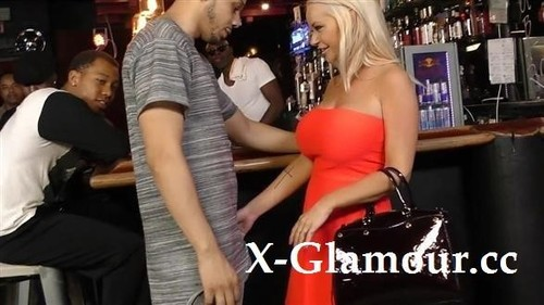 Busty Blonde Gangbanged In A Bar [SD]