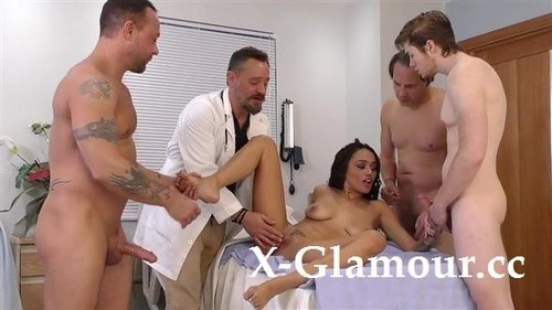 Ebony Beauty Gets Triple-Teamed At The Hospital [FullHD]