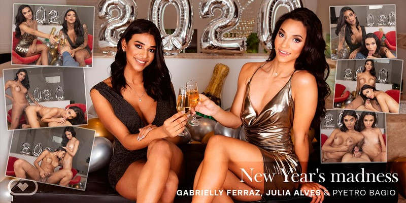 [VirtualRealTrans] Gabrielly Ferraz & Julia Alves - New Year's madness [Virtual Reality, 4K, VR, ...