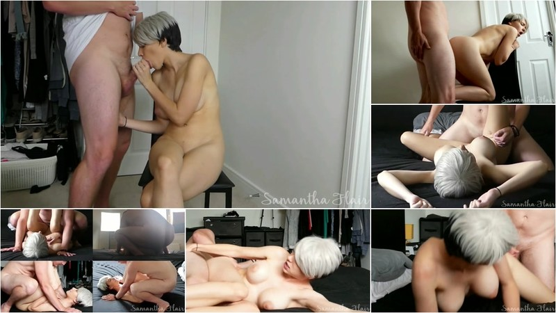 kinkycouple111 - Smoking Hot Babe Samantha Flair Fucked all over the Bedroom [FullHD 1080P]