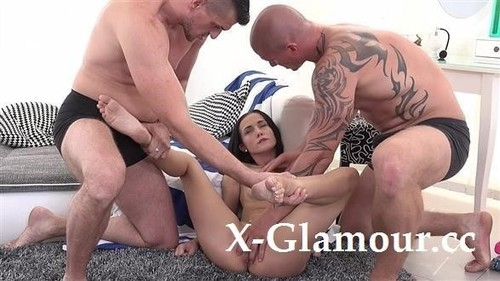 Girl Gets Fucked Hard By Two Guys [SD]