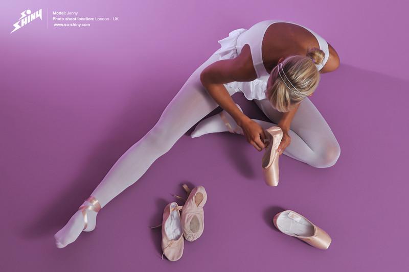 sexy ballerina chick Jenny in pantyhose & leotards