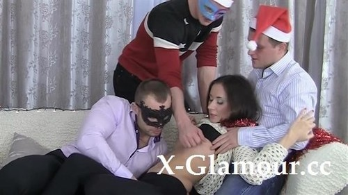 Aruna - Christmas-Themed Rough Gang-Bang (HD)