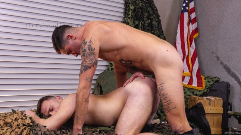 ActiveDuty - Enlistee Justin Lewis Gets Fucked By Chris Bareback (Dec 20)