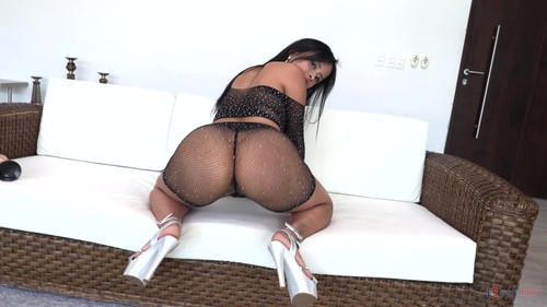 LegalPorno -  Big Butt Colombian Milf Addy Queen gets her first DAP NT072