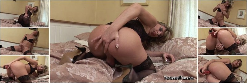 Angelina Torres - Shemale Angelica Solo With A Dildo (HD)