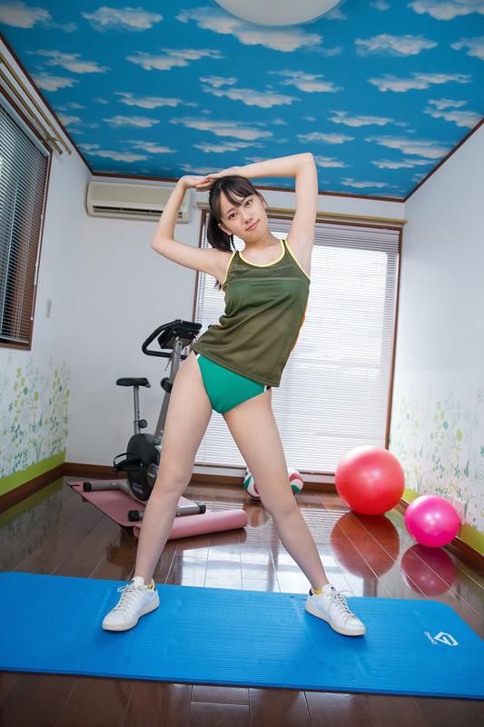 japan teen Sarina Kashiwagi candid fitness album