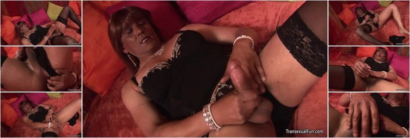 Crystal - Tranny Crystal Plays With Herself (HD)