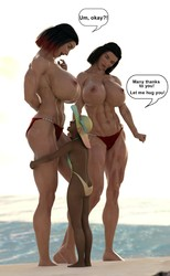 GiantPoser - Twins at the beach