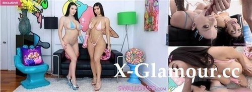 """Violet Myers, Angela White in """"Angela And Violet Gag On A Big One"""" [FullHD]"""