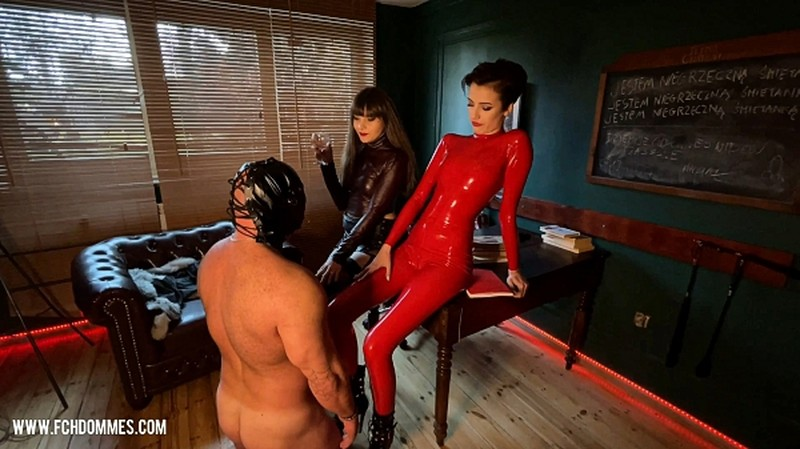 DOUBLE DOMME SPITTING AND FACESLAPPING [HD 1078P]
