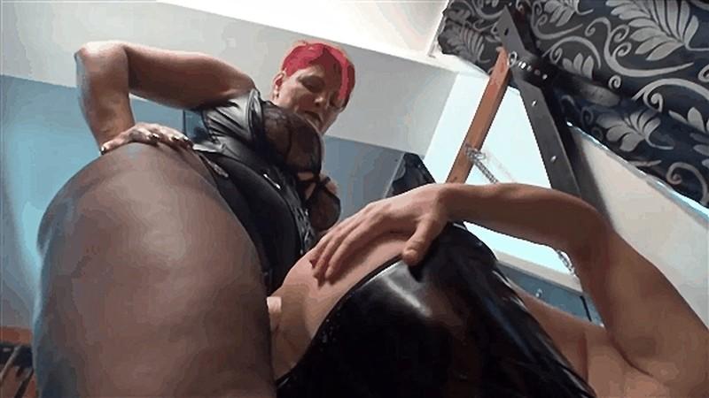 Goddess Andreea and Kytana hardcore strapon fucking until slave cum [HD 720P]