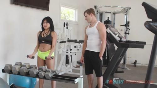 Ember Snow - Hot Asian stepmom Ember Snow fucks her buff gym rat stepson