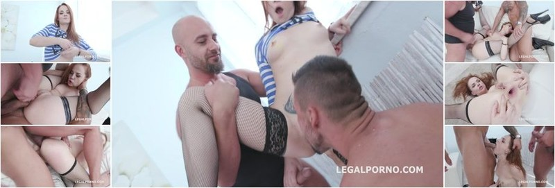 Red Linx, Neeo, Angelo Godshack - 2on1 DP Red Linx Finally gets a Real DP with real Dicks Balls Deep Anal, Gapes, Rough Sex, Swallow (HD)