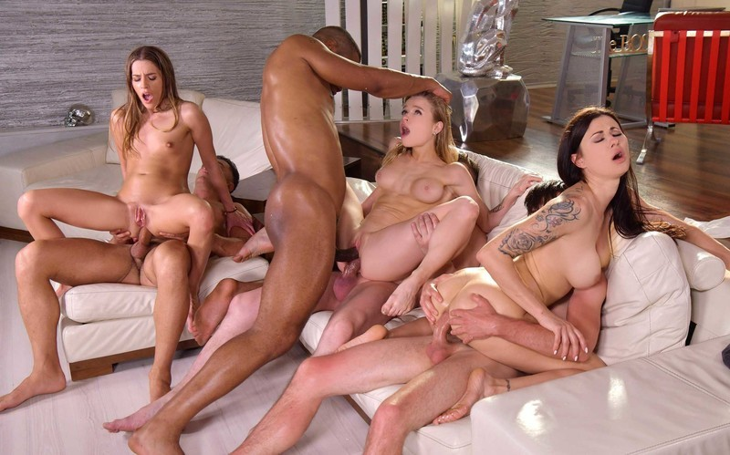 Eveline Dellai, Billie Star, Alexa Flexy - Wild Interracial Orgy with Medical Students [FullHD 1080P]