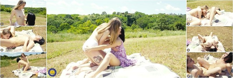Amanda Clarke, Eve Black - Old and young lesbian Picnic Sexdate on a sunny day (FullHD)