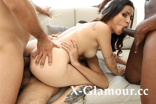 Teh Angel - Cute Latina Teh Angel Gets Fucked By 3 Guys With Double Penetration [SD/480p]