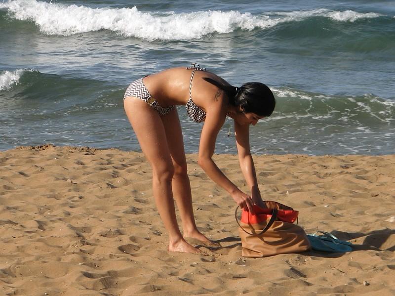 cute exotic teen on a beach