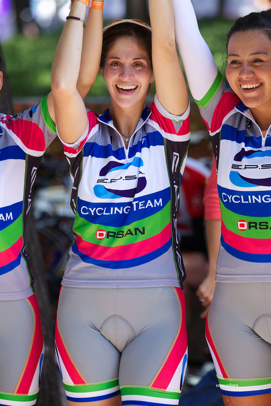 bicycle girls in tight lycra shorts