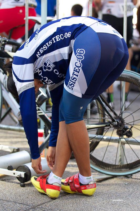 cyclist milf in skin tight shorts