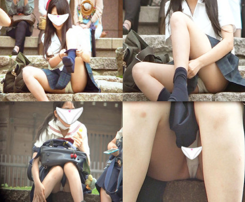 【ovz投稿作品】新フルHD高画質 JKの白パンティ★3人の制服少女!初公開