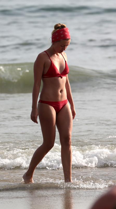 petite milf in red bikini