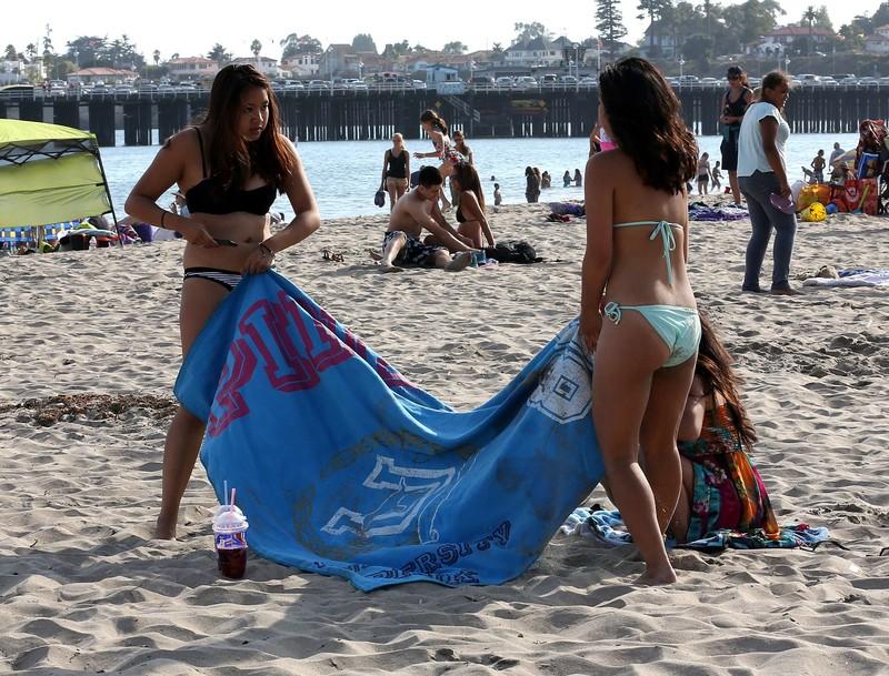 lesbian beach teens in bikini