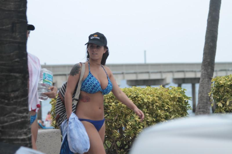 cute vacation girls in bikinis