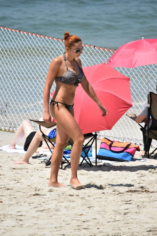 busty lady in candid bathing suit