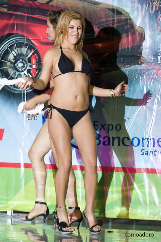 motor show promo girls in bikinis